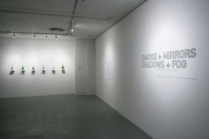 Jim Dingilian, Smoke inside empty glass bottles, 2009-2010 (Courtesy of McKenzie Fine Art, New York)