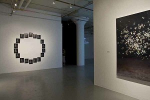 to: Night, Hunter College/Times Square Gallery, l: Jen DeNike, What Do You Believe In, 2008 (Courtesy of Smith-Stewart, New York) r: Jennifer Coates, Black Rift, 2006 (Courtesy of Kinz, Tillou + Feigen, New York)
